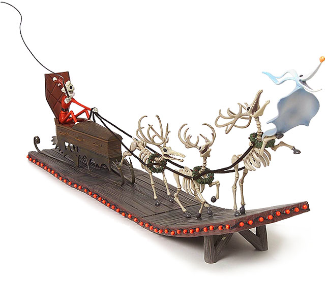 The Nightmare Before Christmas-Santa Jack in Sleigh with ...