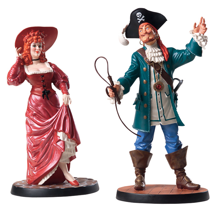 Disney Doppelgangers Pirates Edition: Pirates Of The Caribbean-Auctioneer And Redhead (2007